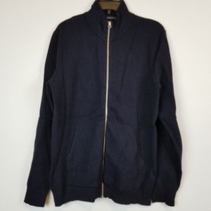 Men's French Connection Navy zip up sweater size M